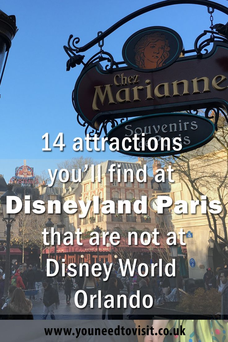 While you might think Walt Disney World in Florida has all of the attractions in Disneyland Paris and more, you'd be wrong. It may come as a surprise, but Disneyland Paris offers unique attractions that cannot be found at Walt Disney World in Orlando.