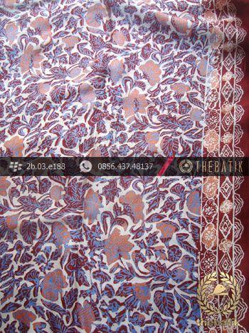 Kain Batik Sutera Motif Buketan Kontemporer | Indonesia #Batik on #Silk Painting, Batik #Fabric, Batik #Painting http://thebatik.co.id/kain-batik-bahan/batik-sutera/