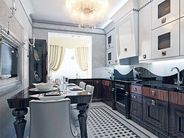 Kitchen design in ART DECO style-12