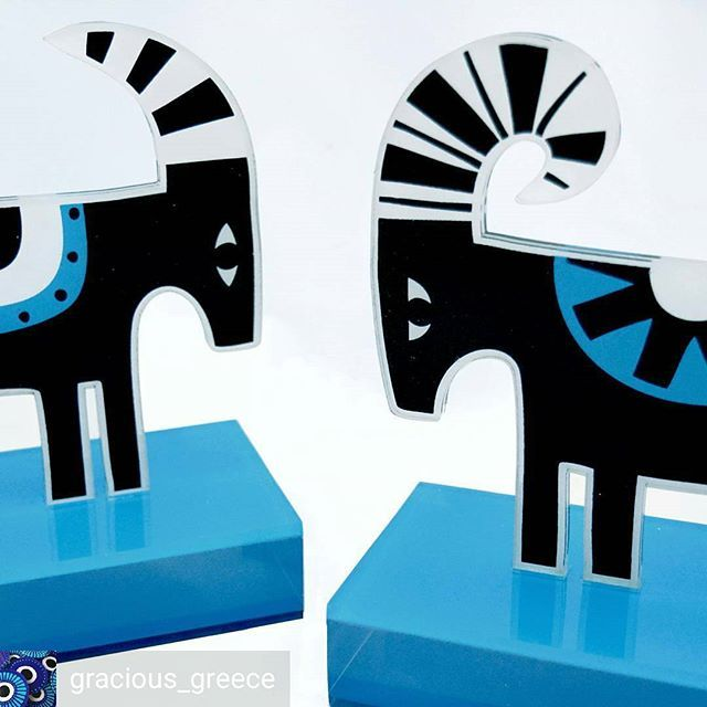#happy to #create things for #book #lovers ♥#plexiartshop    #repost from @gracious_greece -  New #collection new #designs 🔹goat #bookends made of #plexiglass 🔹#graciousgreece #souvenirs from #greece 🔹#handprint #handcraft #silkscreen 🔹explore more at @greekbrandnew tradeshow  #greekdesigners united 🔹#design by @nearchos_polkadot
