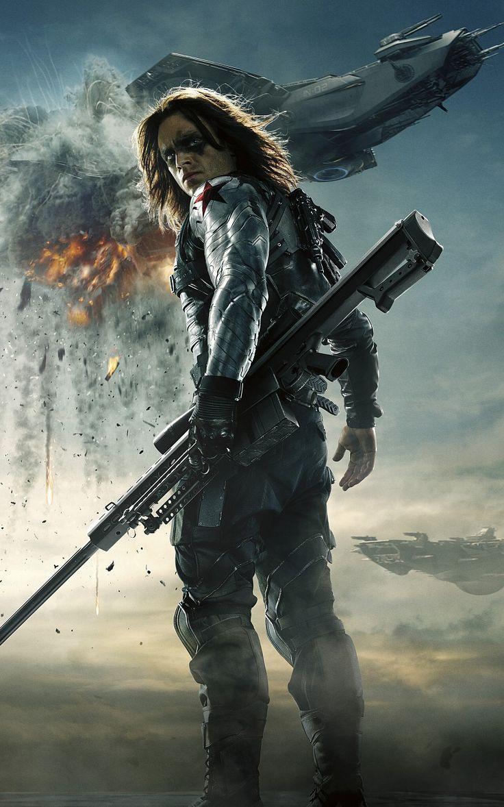 Sebastain Stan is the Winter Soldier in Captain America - #CaptainAmericaEvent