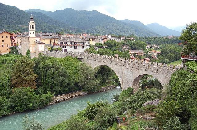 Ponte del Diavolo, Dronero, Piemonte.