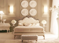 wallsWall Colors, Dreams Bedrooms, Romantic Bedrooms, Headboards, Ceilings Medallions, Beds Room, Master Bedrooms, Bedrooms Decor, Neutral Bedrooms