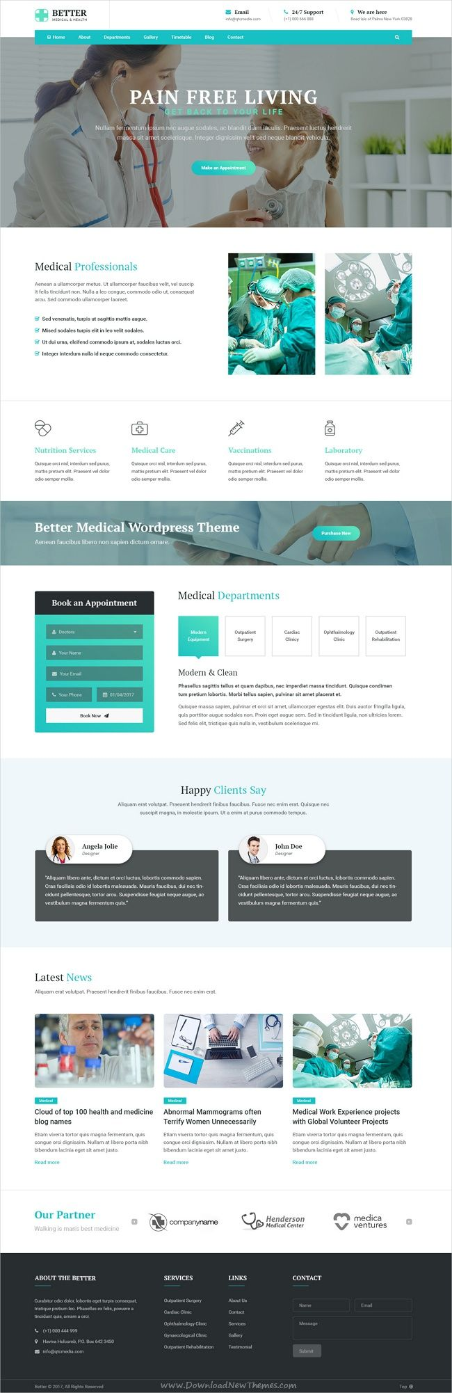 Better is clean and modern design PSD template for #webdev medical, #hospital or #healthcare clinics website with 21+ layered PSD files download now➩ https://themeforest.net/item/better-medical-medical-clinic-healthy-psd-template/19830866?ref=Datasata