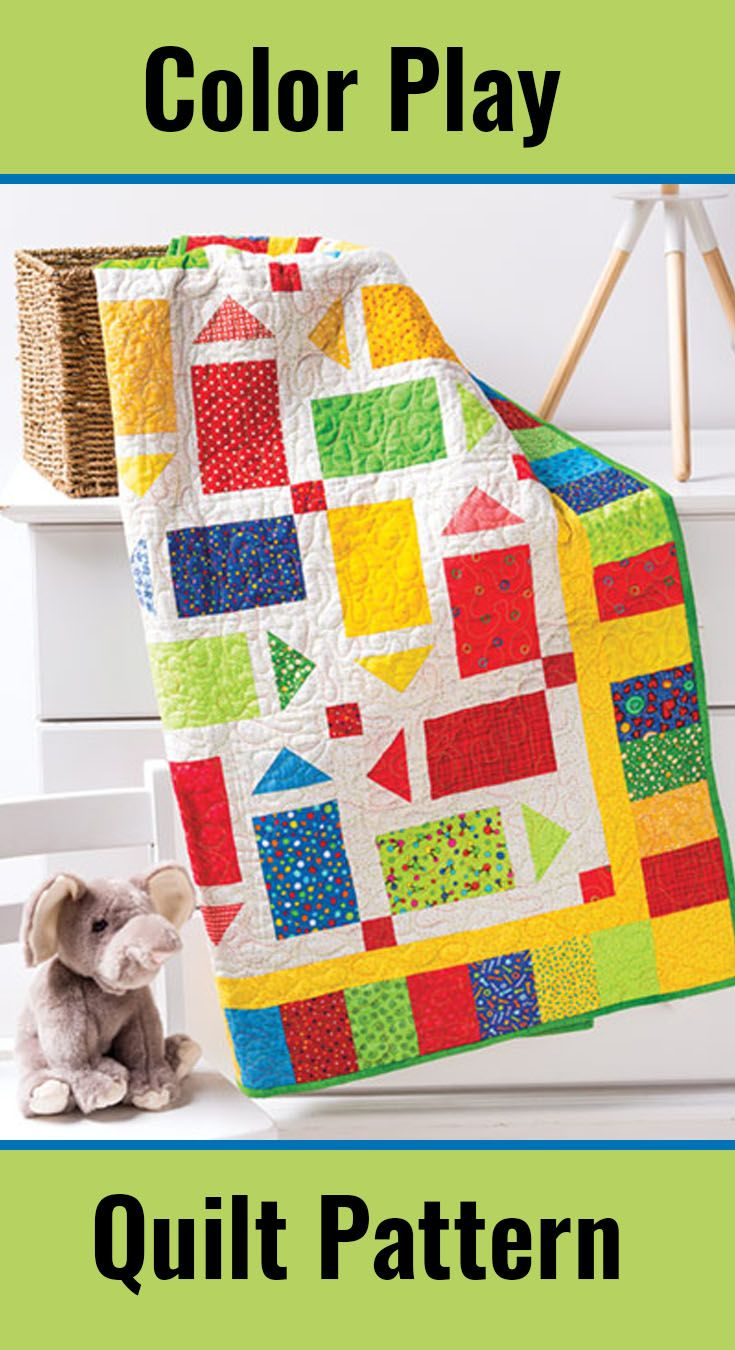 Moderne Quilts A Quick And Easy Quilt To Make For Your Little One Bright And