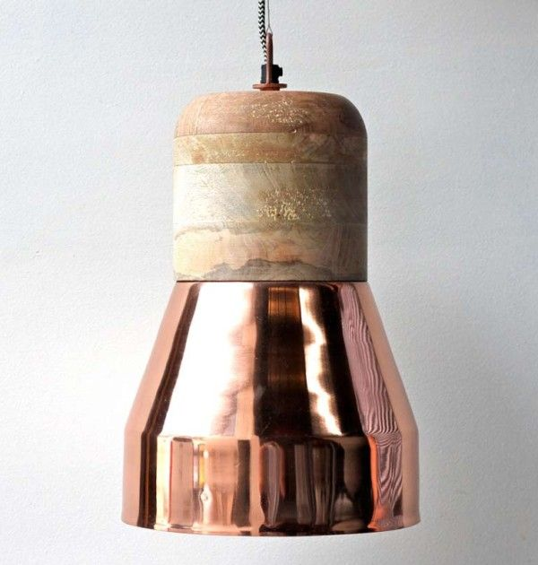 Copper Duo Pendant Light
