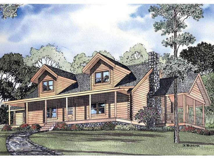 Eplans log houses house plan five bedroom log houses for 5 bedroom log homes