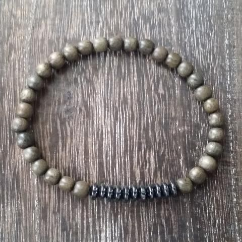 Men's Balance Bracelet (Grey Bayong Wood)