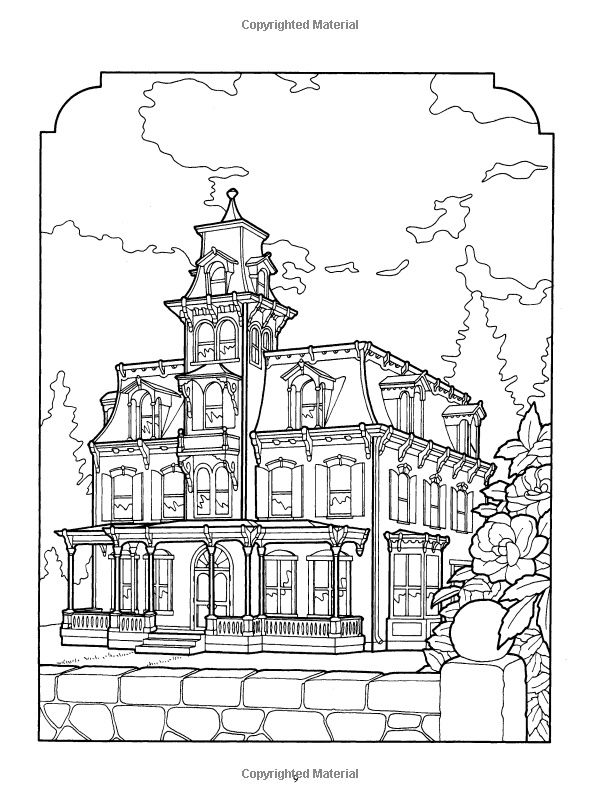 Victorian Houses To Color