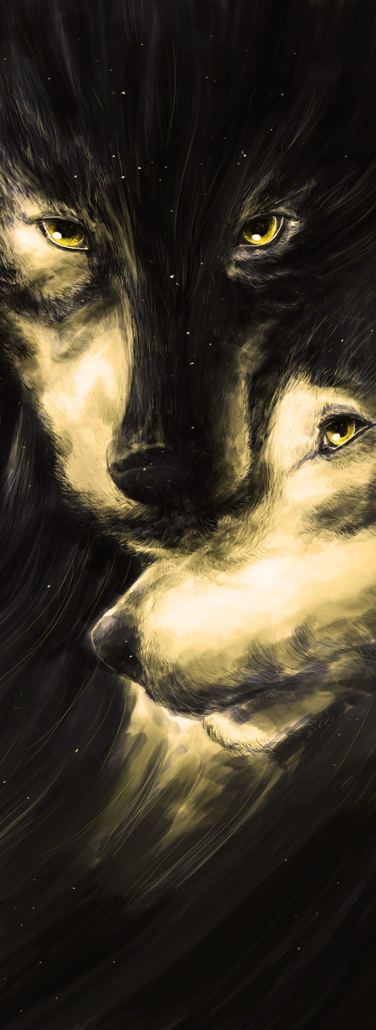 The Wolves by Alexander Fechner - https://www.etsy.com/de/listing/501988875/the-wolves-strong-love-family-digital https://www.etsy.com