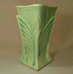 Vintage C. 1940 McCoy Matte Aqua Green Pottery Vase |Pinned from PinTo for iPad|