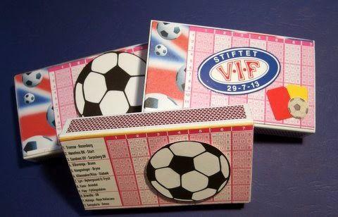 Matchbox with football