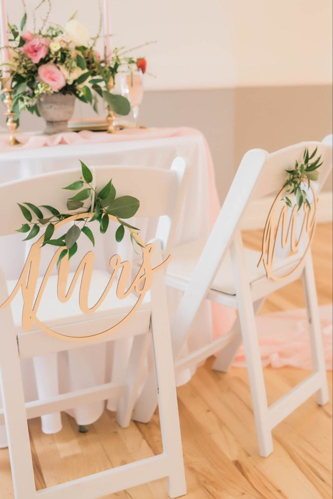 Ginger Ray Mr /& Mrs Wooden Hoops Decoration Gold Wedding Range by