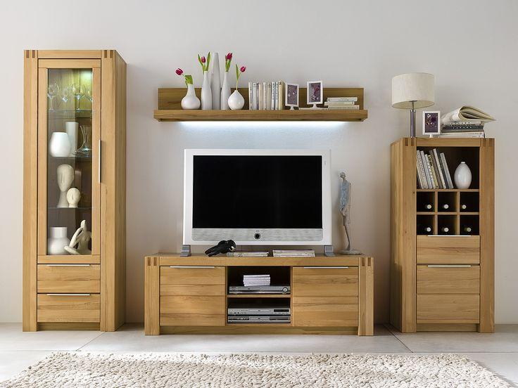 93 best Wohnzimmer \/ Wohnwände images on Pinterest Living room - wohnzimmer kernbuche massiv