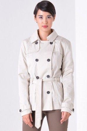 Annabel Short Trench Coat in Beige