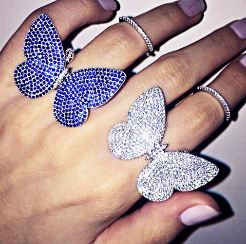 Moving Butterfly Ring                                                       …