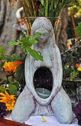 "Altar:  Goddess #Altar.  Sculpture by Phillipa Bowers called ""The Source"""
