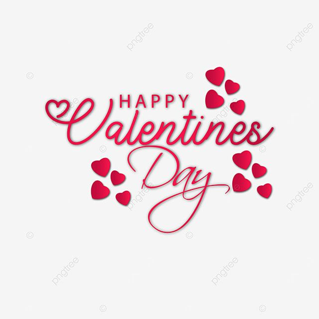Romantic Happy Valentine S Day Wishes Text Heart Love Gift Png And Vector With Transparent Background For Free Download Happy Valentine Valentines Day Background Day Wishes