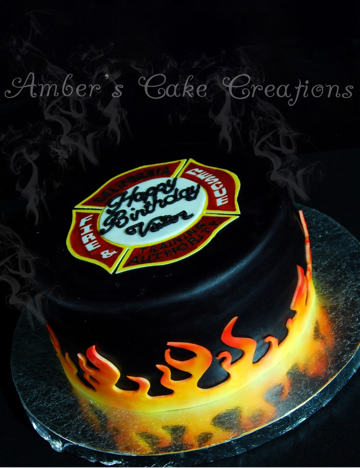Fire and Rescue Cake