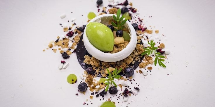 This striking dessert recipe from Michael Wignall sings the praises of a too often overlooked British fruit - the bilberry.