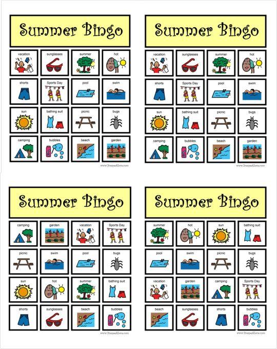 Summer Bingo pic