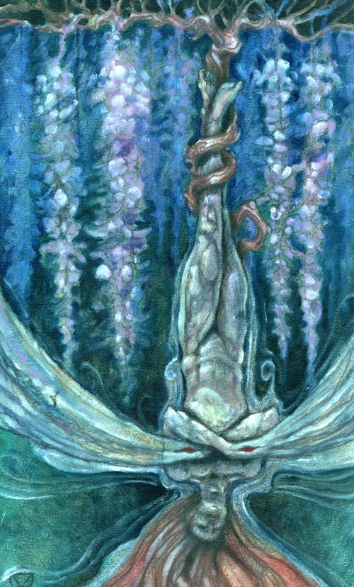 Image result for the mary el tarot the hanged man