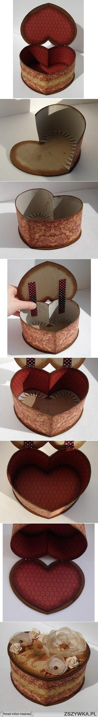 .Tektura DIY Heart Shaped Box.