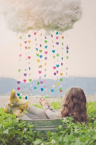 cute cotton cloud and raindrops. prop. Hailey Faria Photography Modern Portrait Design Oahu, Hawaii