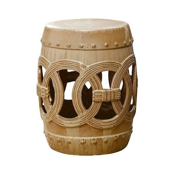 Moroccan Beige Ceramic Garden Stool (€91) ❤ liked on Polyvore featuring home, outdoors, patio furniture, outdoor stools, cream ceramic garden stool, moroccan outdoor furniture, abbyson living, cream garden stool and outdoor ceramic stool