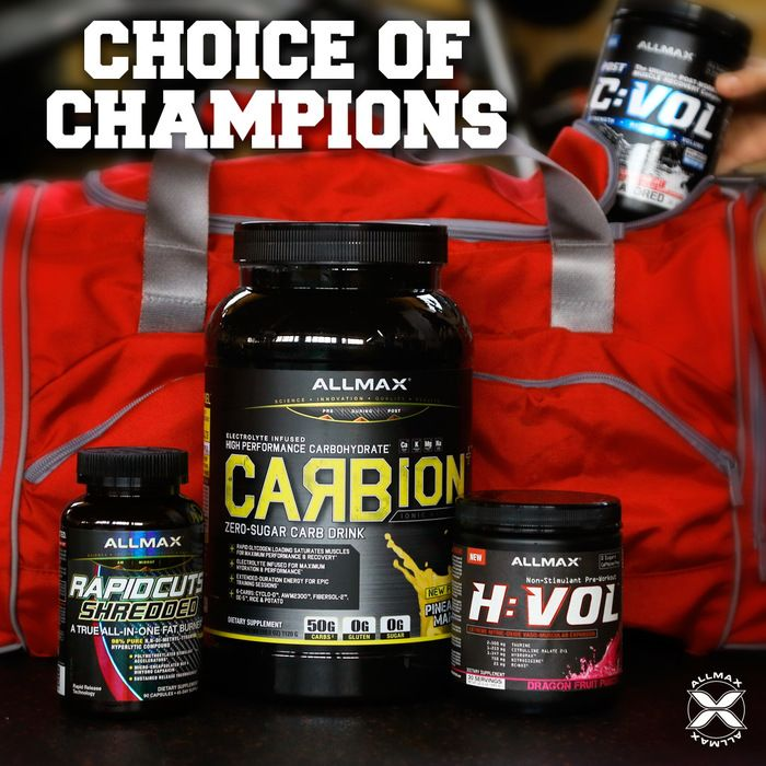 What #ALLMAXStack makes you feel like a Champion? If you are looking for the perfect stack to give you a great pump, burn fat, give you energy, while replenishing your electrolytes and recover you faster to result in muscle gains, then you may want to try giving this stack a try!