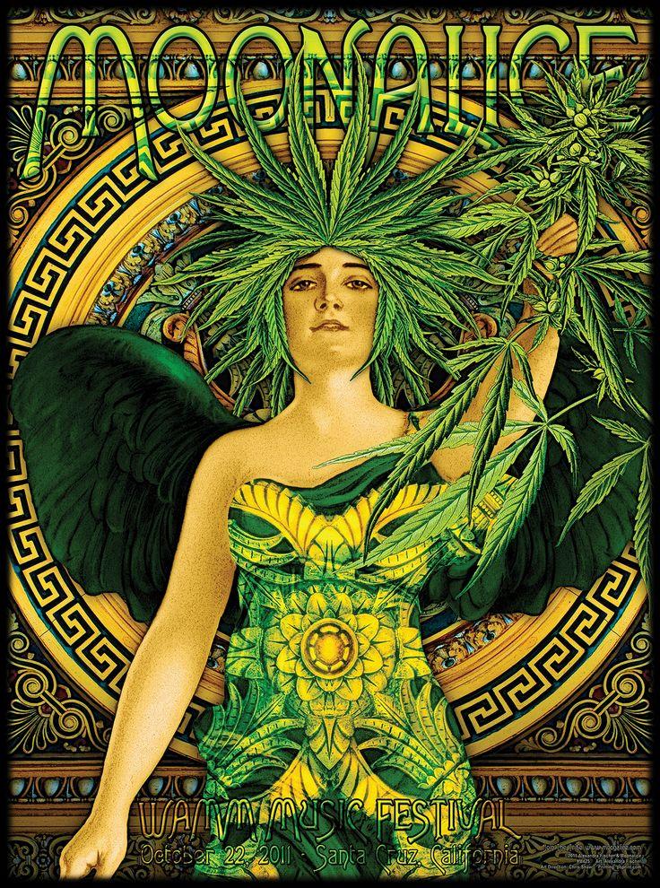 . Santa Cruz California medical marijuana benefit poster @ Moonalice.com