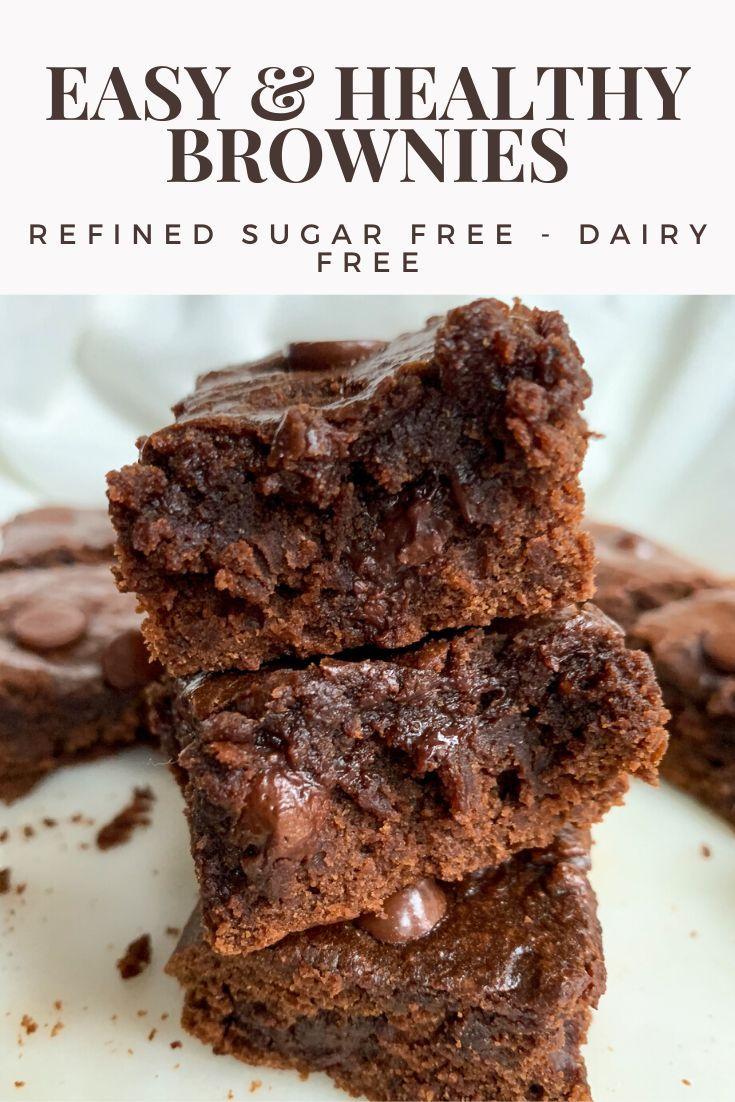 Easy Healthy Brownies Wellness By Kay Recipe Sugar Free Brownies Sugar Free Brownies Recipes Dairy Free Brownies