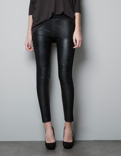 FAUX LEATHER LEGGINGS - Trousers - Woman - New collection - ZARA: FAUX LEATHER LEGGINGS - Trousers - Woman - New collection - ZARA