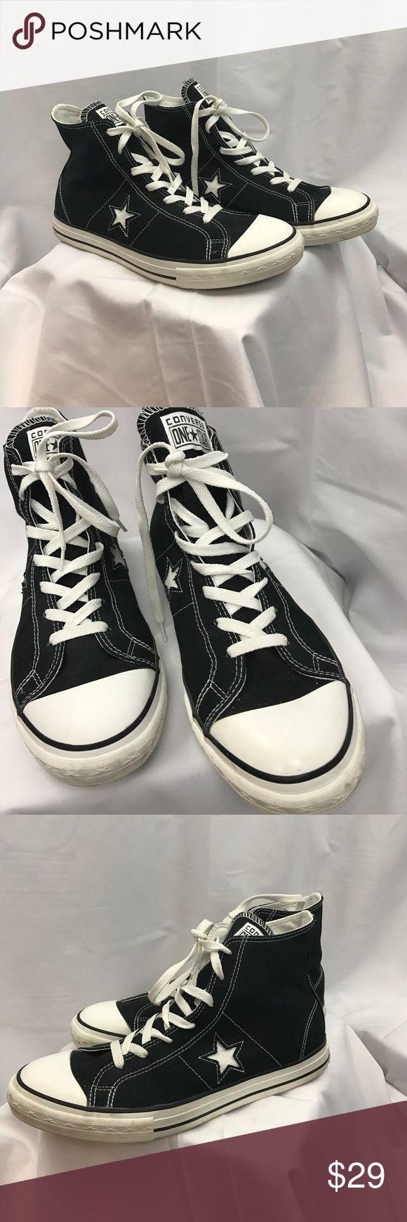 Converse All Star sz9.5 black high top sneakers Excellent used condition Converse All Star sz9.5 black high top sneakers... Converse Shoes Athletic Shoes