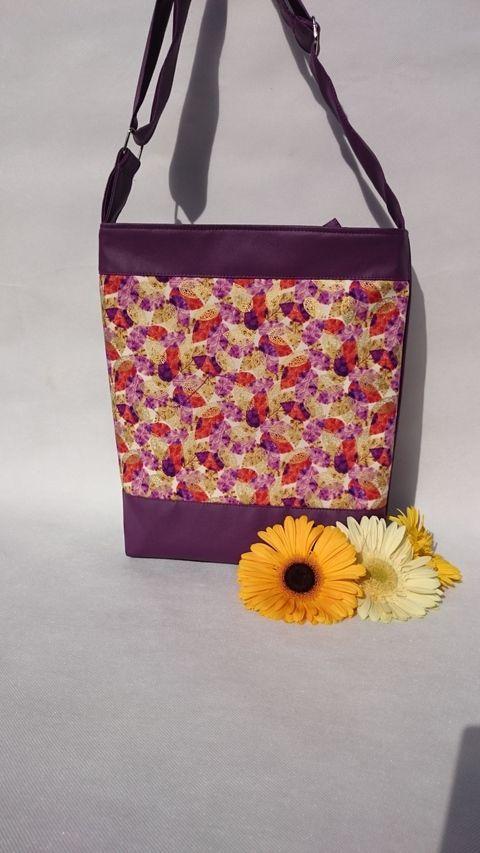 Textilbőr női táska, Táska, Mindenmás, Ruha, divat, cipő, Válltáska, oldaltáska, Meska