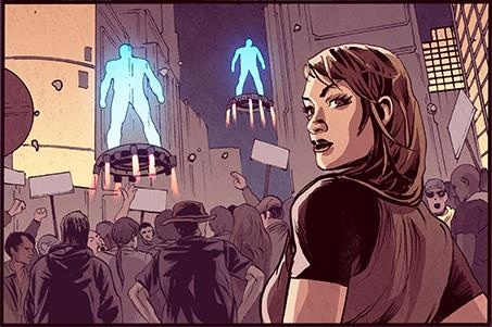 A production still from our first book. #Bleedback #ComicBook #Robots