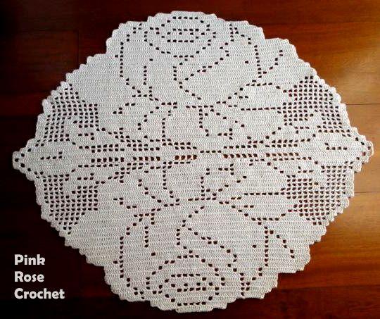 filet crochet roses | Obrigada por visitar, seguir e comentar.
