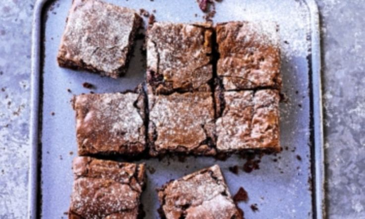Fruity beauties! Chocolate brownies with dried cranberries