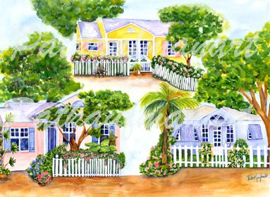 cottages and beach living paintings Cottages Of Delray