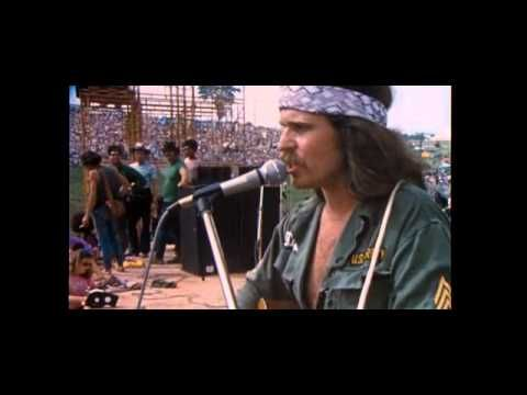 """""""One, two, three, what are we fighting for?"""" - Country Joe Mcdonald at Woodstock"""