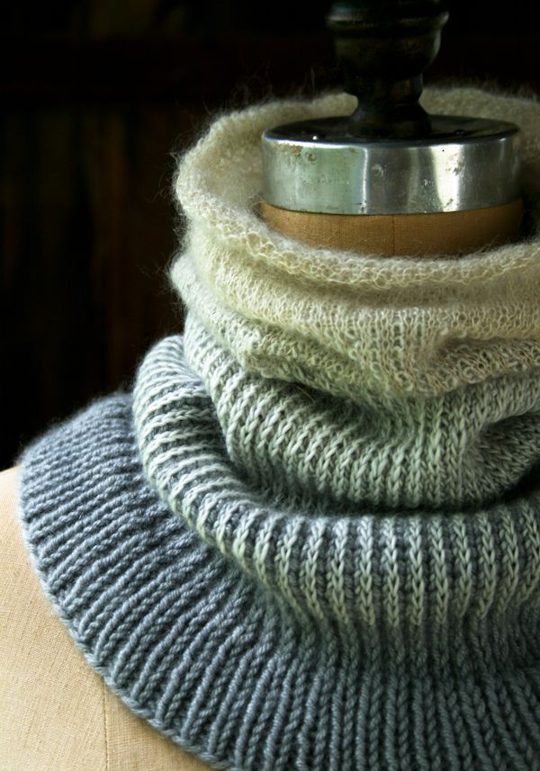 Lauras Loop: Ombre Cowl - The Purl Bee - Knitting Crochet Sewing Embroid...