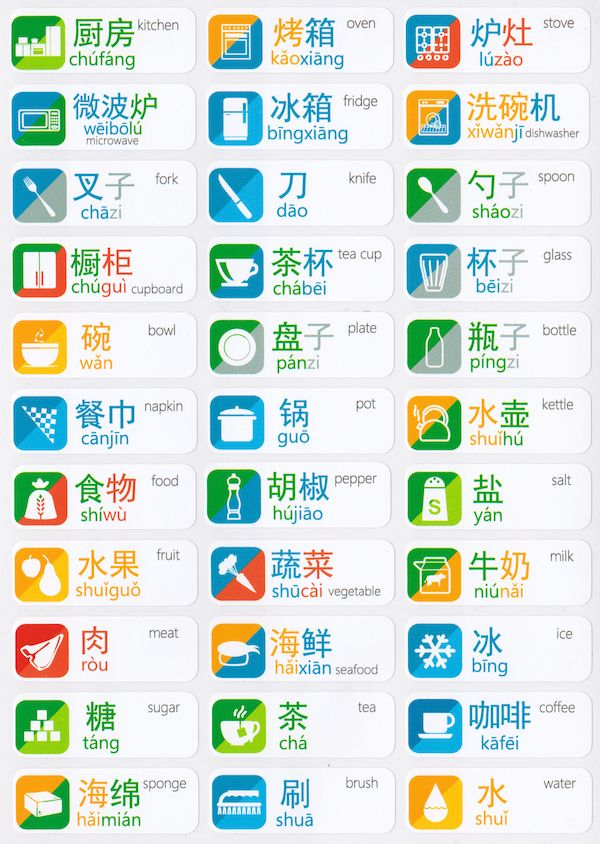 Chinese Language Stickers