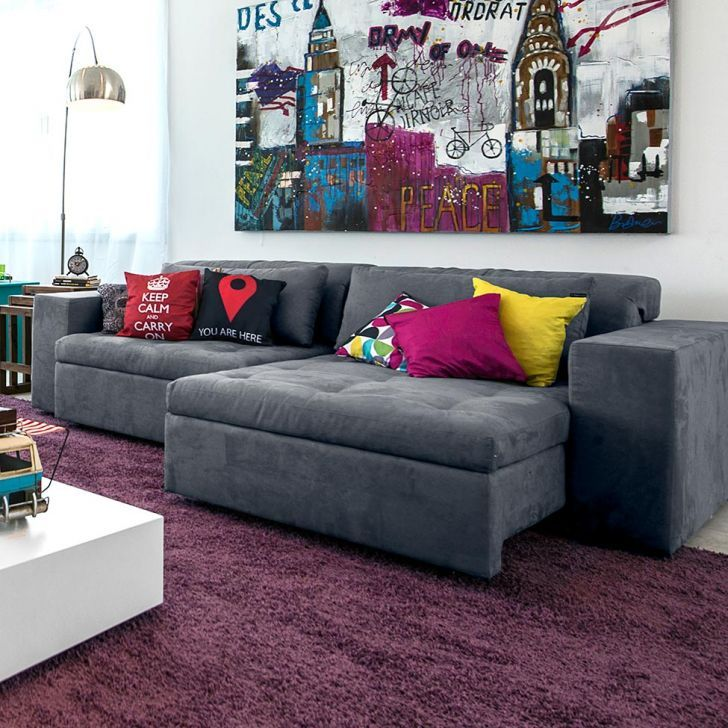 Decoracao De Sala De Tv Com Sofa Cinza