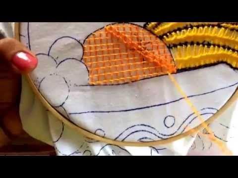 19.- puntada fantasía para naranja - YouTube