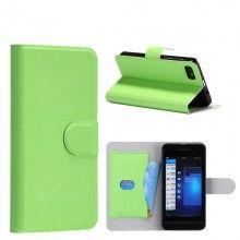 Forro BlackBerry Z10 Tipo Libro - Verde  Bs.F. 109,25