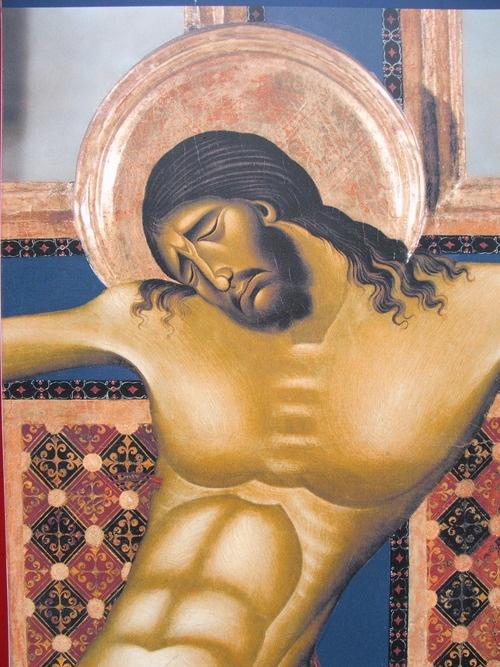 """Cimabue, """"Crocifisso"""", Arezzo, Chiesa di San Domenico, dettaglio."""