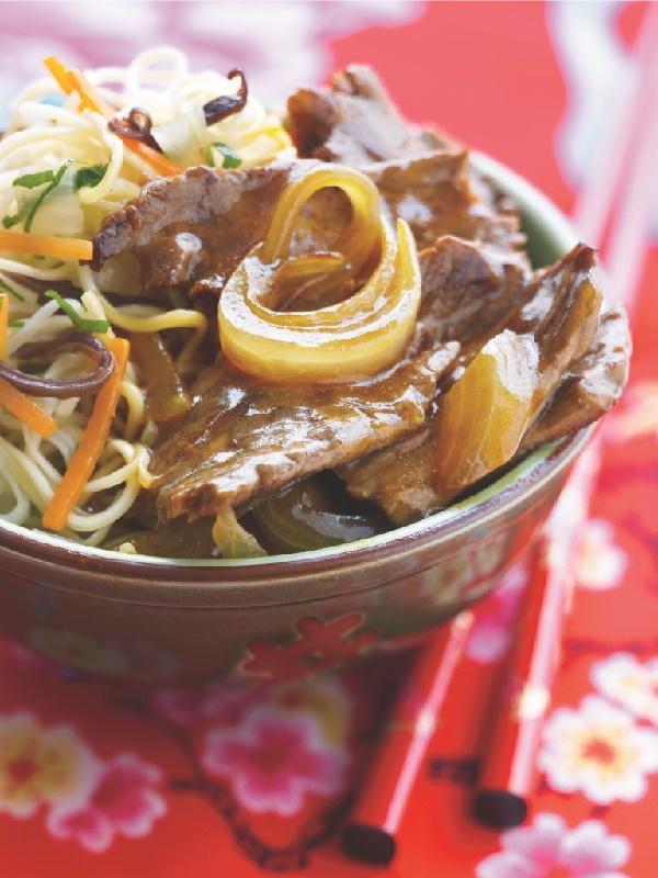 Bœuf aux oignons et nouilles chinoises aux légumes #Picard