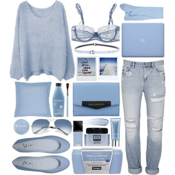 topje, trui, gescheurde jeansbroek, handtas, ballerina's, zonnebril, eos, nagellak,, choker, bodylotion (hand)