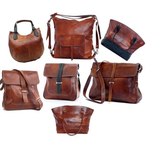"""Handmade: leather bags"" by klaudyna-mazurek on Polyvore"