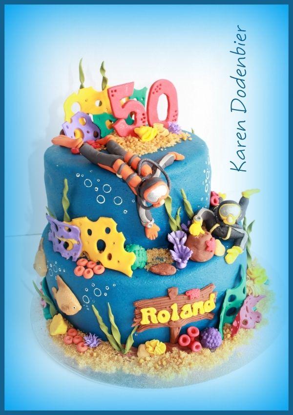 A scuba diver cake